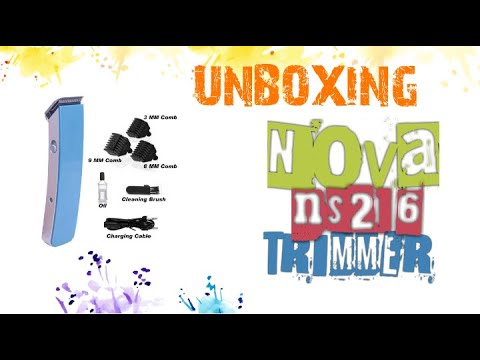 Nova ns-216 trimmer || UNBOXING || REVIEW