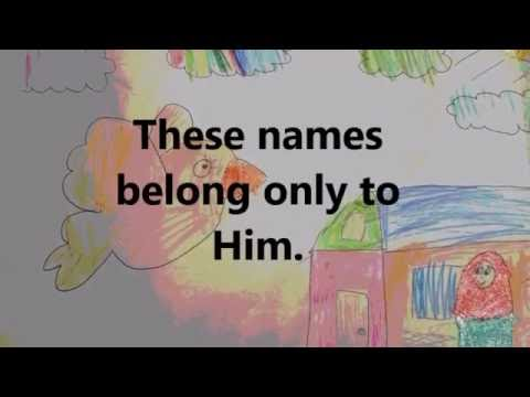 Learn the 99 Names of Allah for Kids (Names 1-5).