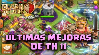 MAS DEFENSAS AL MAXIMO DE TH11!!! MAXEANDO TH12- CLASH OF CLANS