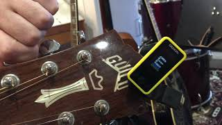 AMP acoustic tuning using a D'Addario Clip-on Tuner