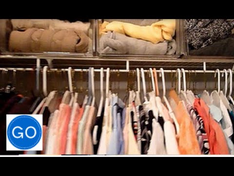 How to organize a very small closet space