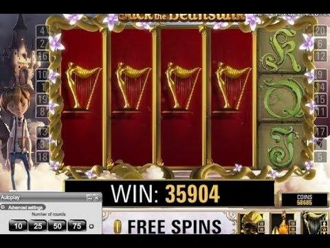 Видео Игровой автомат jack and the beanstalk онлайн