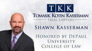 [[title]] Video - Shawn Kasserman Honored by DePaul University College of Law