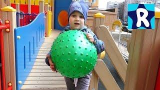 СУПЕР! Детская Площадка КОРАБЛЬ ВЛОГ Рома Играет на площадке VLOG Kids Playground Fun Play Place