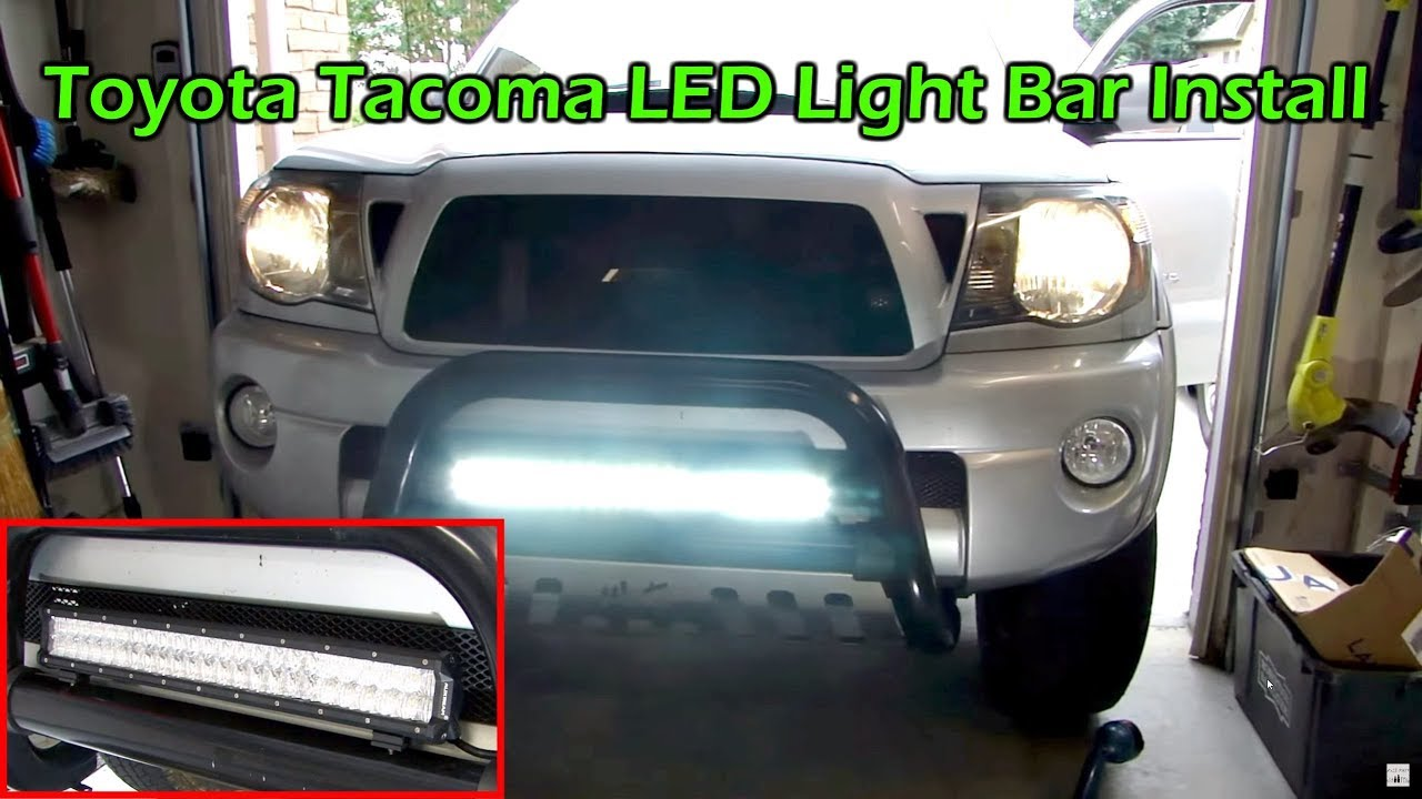 Toyota tacoma 23 cree led light bar install auxbeam 5d youtube aloadofball Gallery