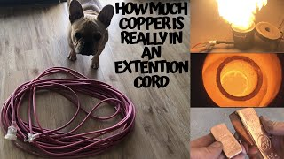 Well she wasn't using them - How much Copper is really in a 30 Meter Extension Cord