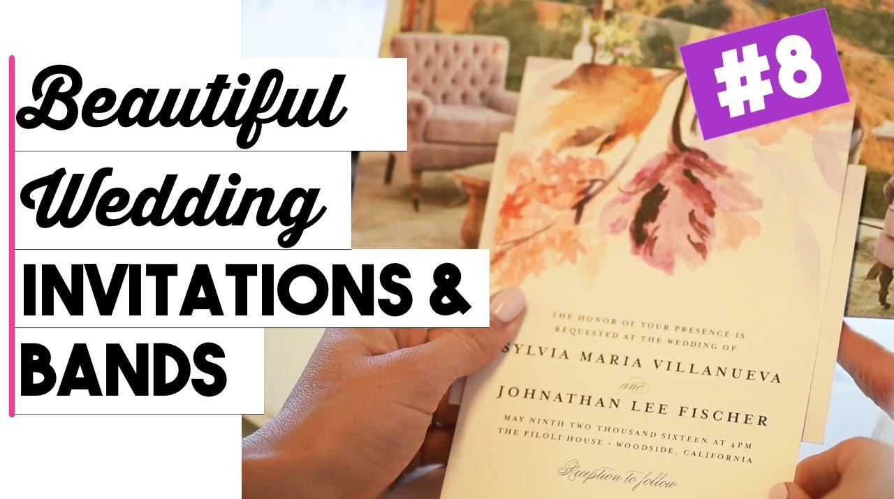 Wedding Invitations & Wedding Bands   Wedding Wednesdays Ep. 8 ...