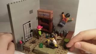 Лего самоделка #36 на тему Ходячие Мертвецы (заброшенный бункер)
