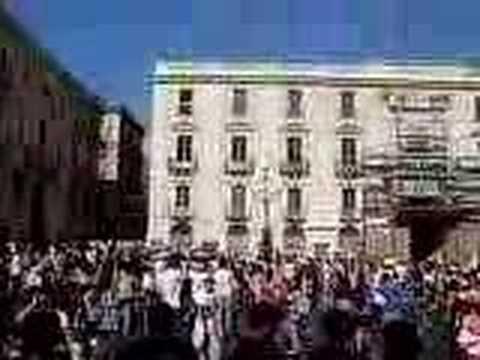 FLASH MOB Catania piazza università1-06-07-GAVETTONI,Funny!