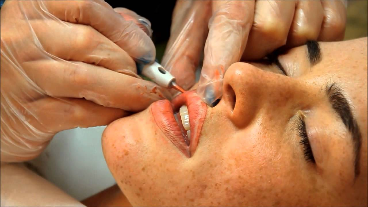 Permanent Makeup Lips Procedure Before And After Youtube