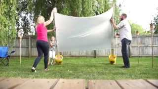 Outdoor Backyard Movie Projector Screen DIY (Valu Home Centers)