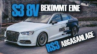 Stahlwerkz - Audi S3 8V I Umbau auf RS3 Abgasanlage  I neue Rotiform