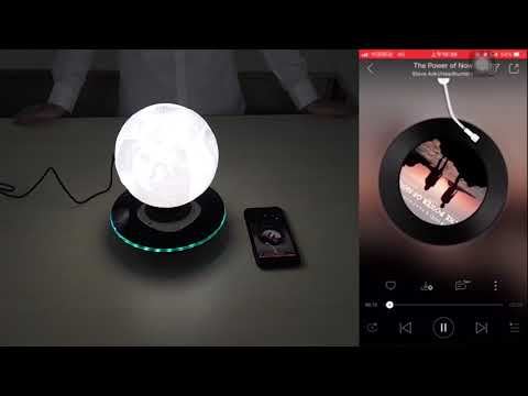 Creality Customize Moon Lamp Levitation, Magnetic Floating LED Light Bluetooth Audio Built-in