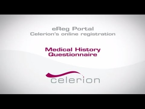 Celerions eReg Portal - Medical History Questionnaire