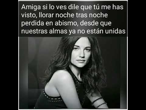 Natalia Jiménez - Amiga Si Lo Ves (letra)