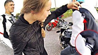 Катаем на мотоциклах так - что одежда рвется в клочья :D