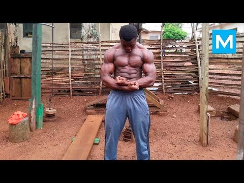 No Excuses - Hard Work in Real African Gym | Muscle Madness