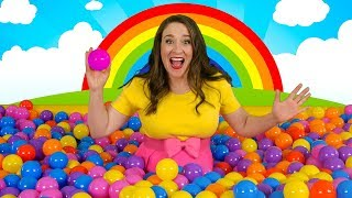 Ball Pit Party | Kids Song for Learning Colors - Indoor Playground ball pit fun!