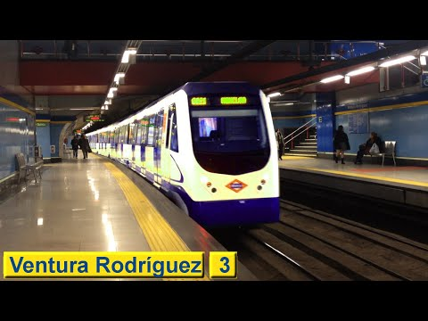 Ventura Rodríguez L3 : Metro de Madrid ( Serie 3000 )