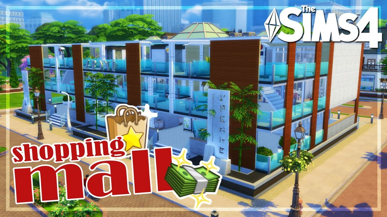 El mejor Shopping Mall | The Sims 4 Speed Build - YouTube