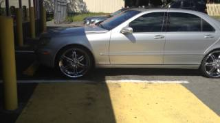 "2003 Mercedes S500 comes in on 17's and rolls out on 22"" VCT wheels Thumbnail"