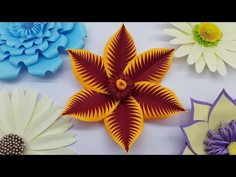 Paper Flower Backdrop Tutorial with Free Template | DIY Paper Flowers