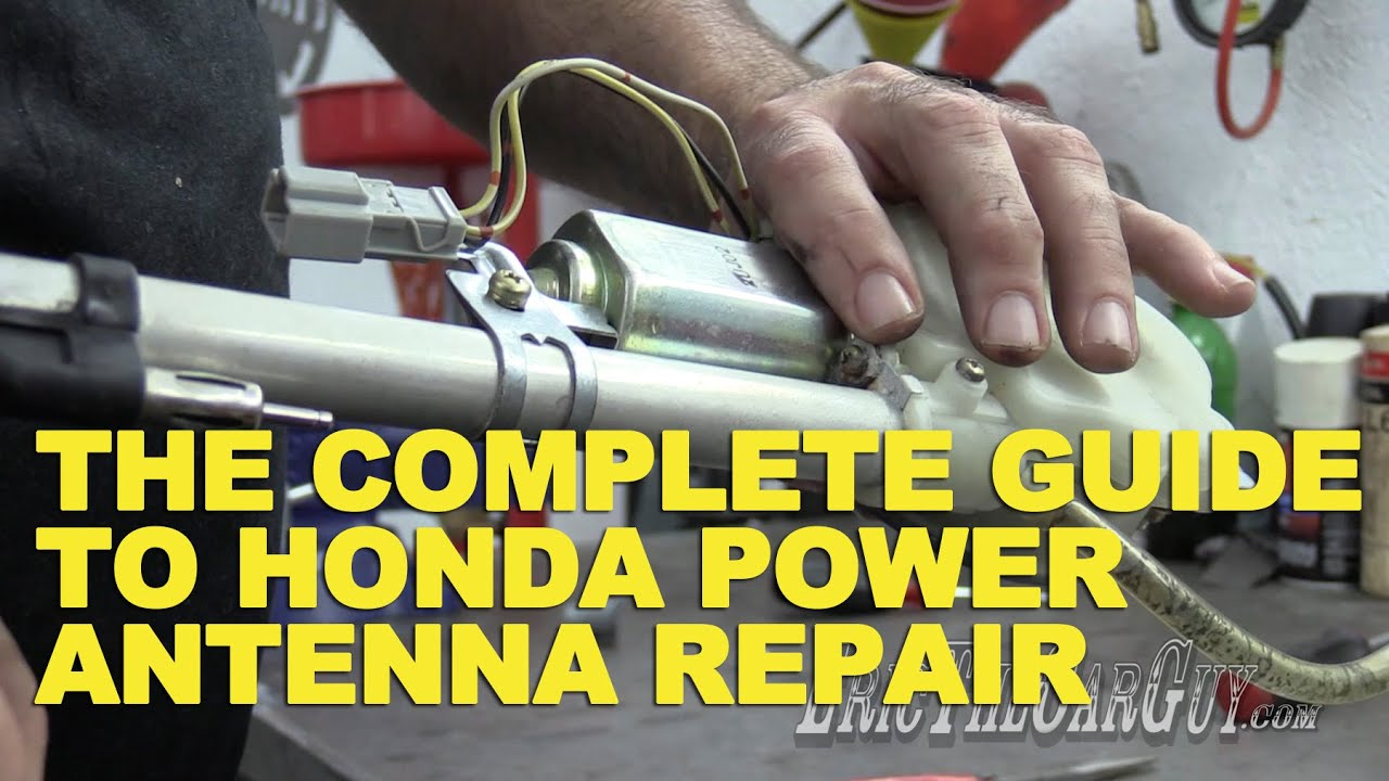 91 honda civic hatchback wiring diagram rj45 cat5e the complete guide to power antenna repair youtube