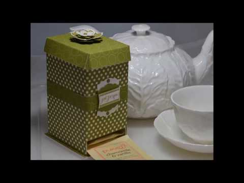 Free Gift. Tea Caddy Box Tutorial.