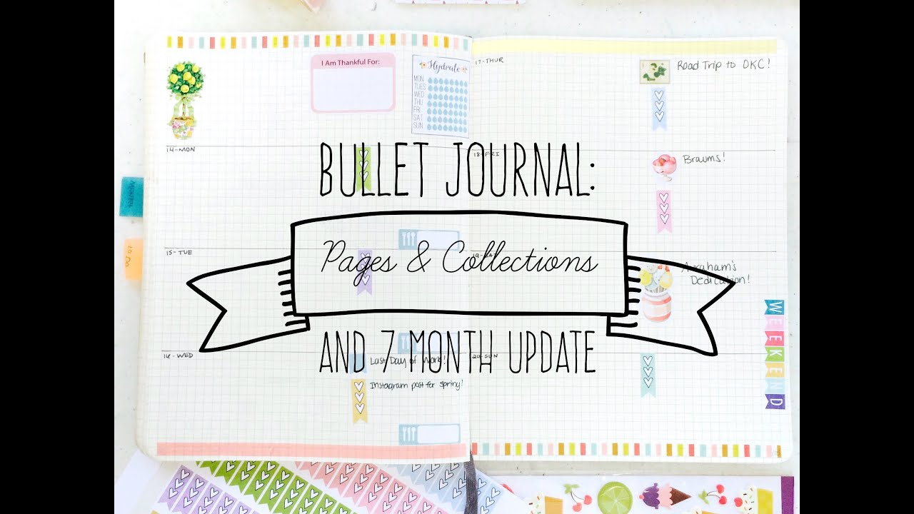 bullet journal collection pages and 7 month update youtube. Black Bedroom Furniture Sets. Home Design Ideas