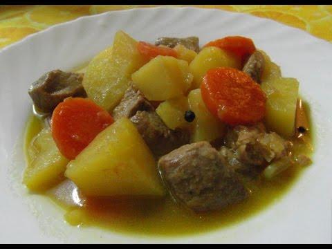 Как приготовить тушеную картошку с мясом (Estofado)