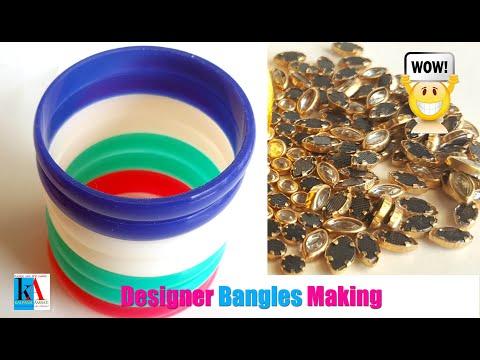 how-to-make-designer-silk-thread-bangles-at-home- -wedding-jewellery- -handmade-jewellery