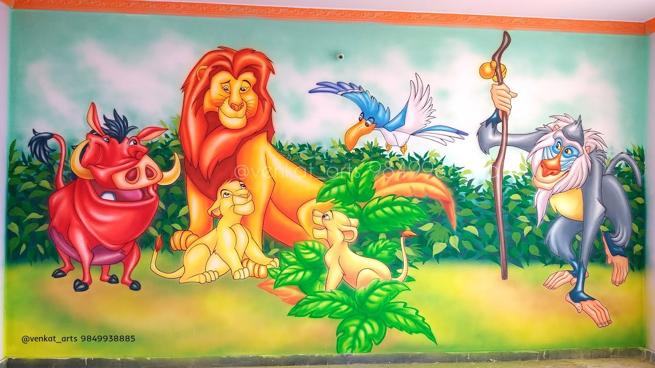 Amazing 3d Art Lion King Art Learn 3d Wall Painting Ideas Play