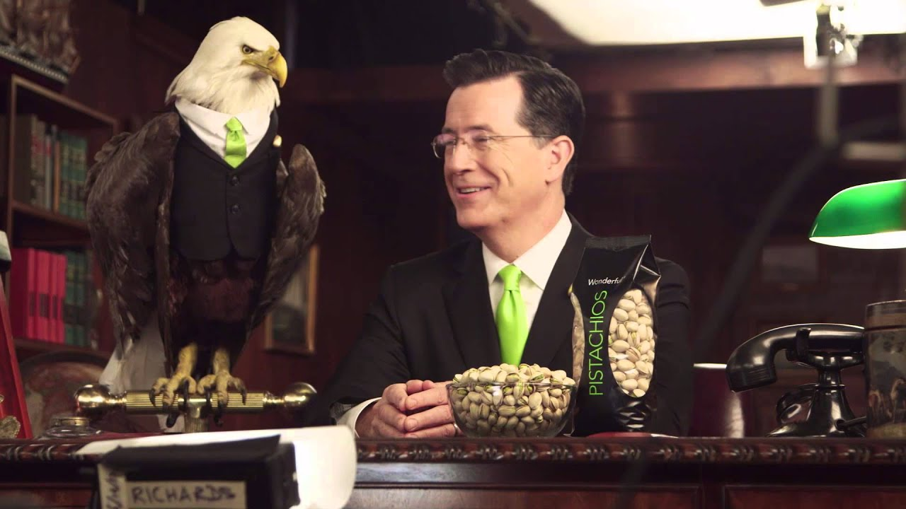 stephen colbert wonderful pistachios behind the scenes