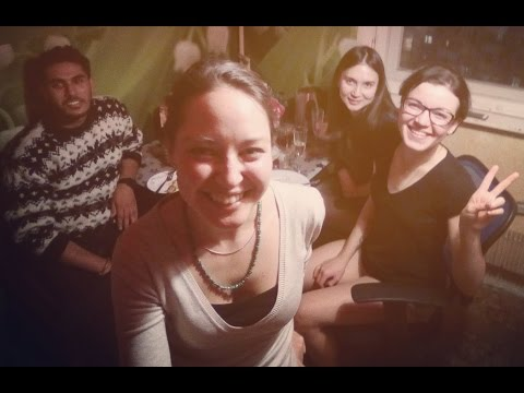 Russian girls teach nepalese how to drink vodka