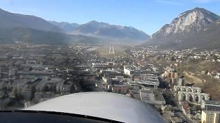 Anflug auf Innsbruck