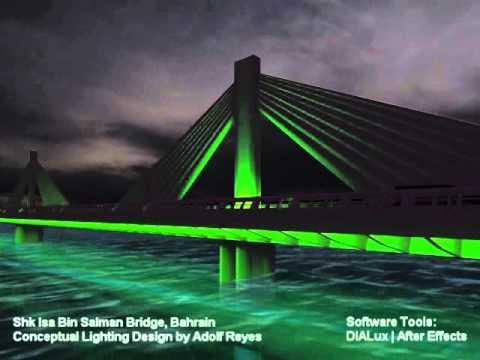 Shk isa bin salman bridge lighting design concept by light