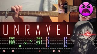 How to play 'Unravel - Tokyo Ghoul [FULL]' Guitar Tutorial [TABS] Fingerstyle