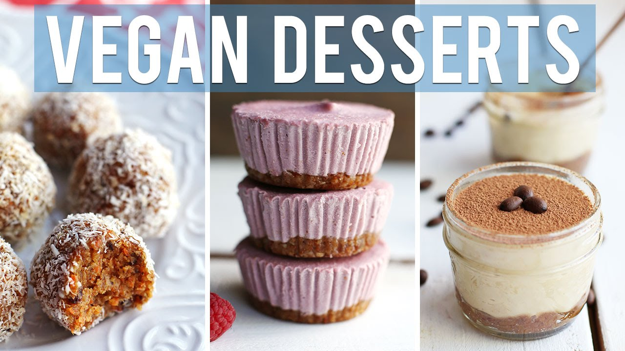 3 EASY VEGAN DESSERTS