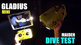 GLADIUS Mini 4K Underwater ROV Maiden DIVE TEST Review - [Controls, FPV, Lights, Pros & Cons]