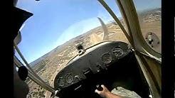 1946 Aeronca Champ Airplane Windy Landing (headset POV) Scary!