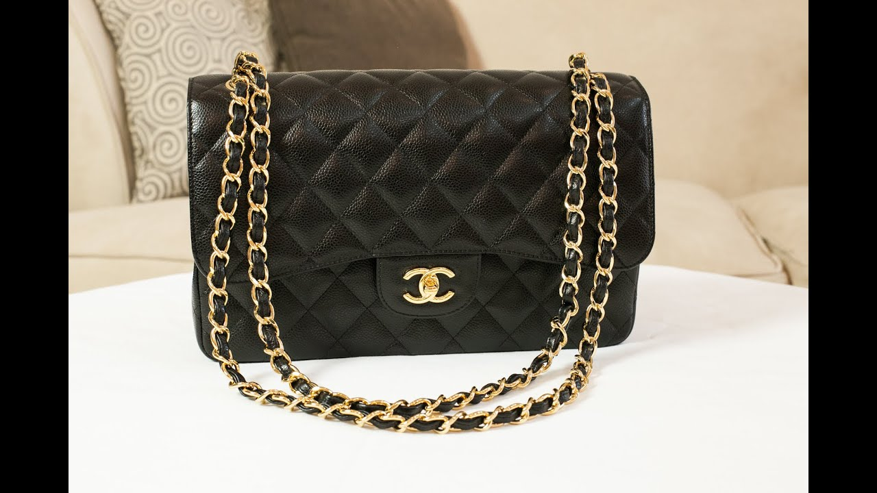 b392933bcf123a Chanel Classic Jumbo Double Flap Handbag Review - YouTube