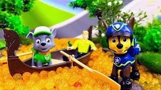 Щенячий Патруль в видео с игрушками – Спасаем реку от мусора! – Игры для детей.