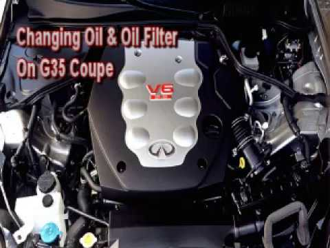 How To Change Oil and Oil Filter On Infiniti 20032006 G35 Coupe