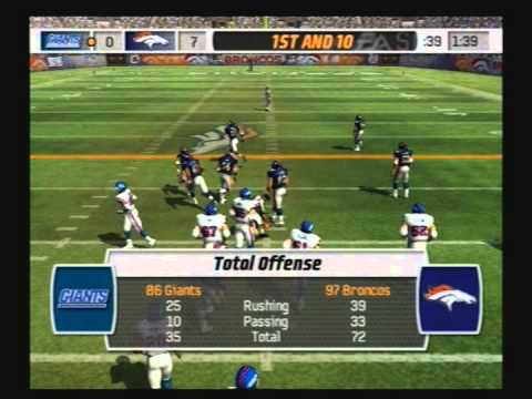 Madden NFL 07 Historic Teams Playoffs 1986 New York Giants vs 1997 Denver Broncos