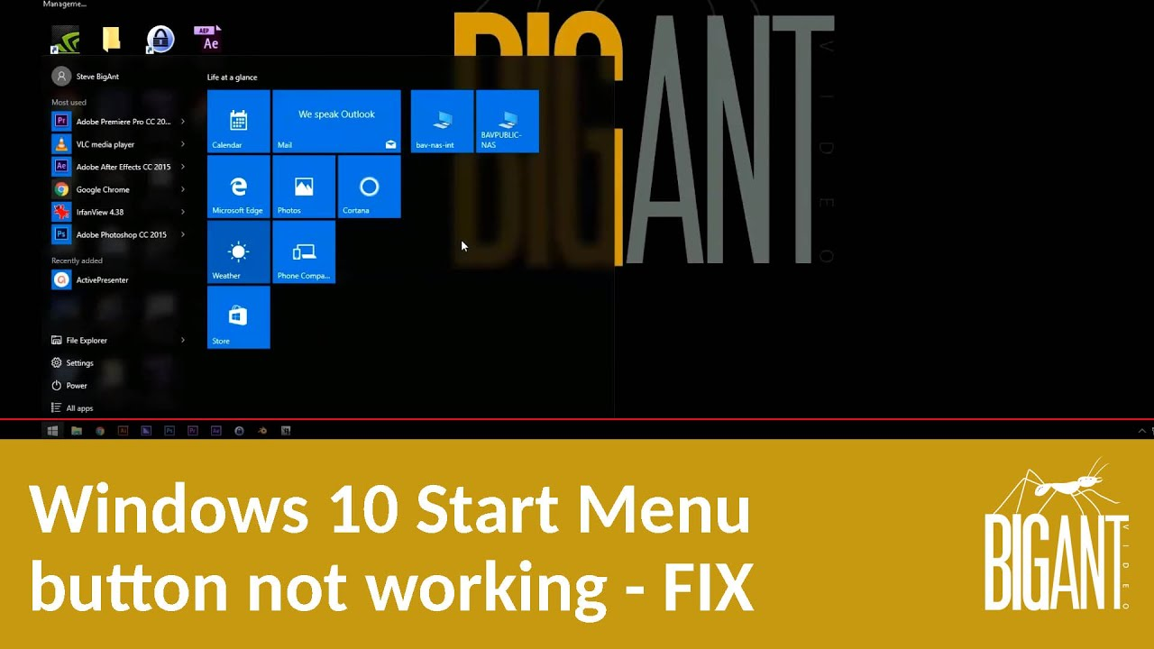 windows button not working windows 10 fix