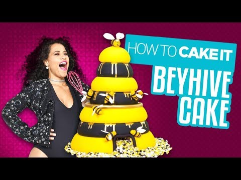 A Beehive Cake for the Beyhive! Delicious cake for Queen B! | Yolanda Gampp | How To Cake It