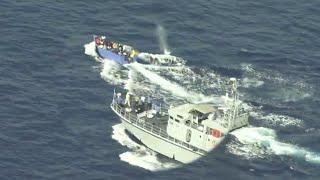 video: Watch: Libyan coast guard opens fire on migrant boat