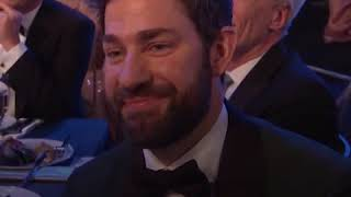 John Krasinski Causes Meltdown on Twitter As He Tears Up During Wife Emily Blunt's SAG Speech