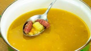Просто объедение! Гороховый суп с охотничьими колбасками - еще захочется! | Appetitno.TV