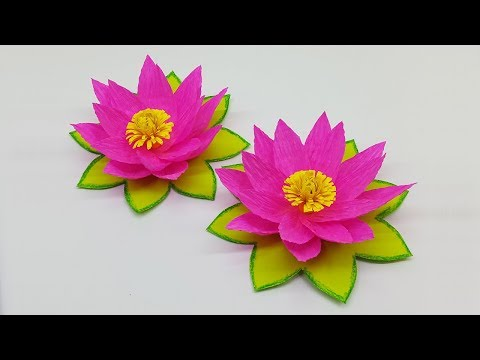 How to Make Beautiful Paper Lily Flower | DIY Paper Flowers